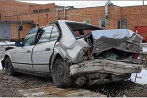 Поврежденные автомобили
