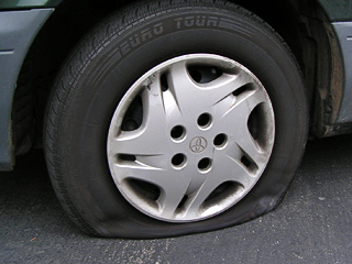 Прокол колеса